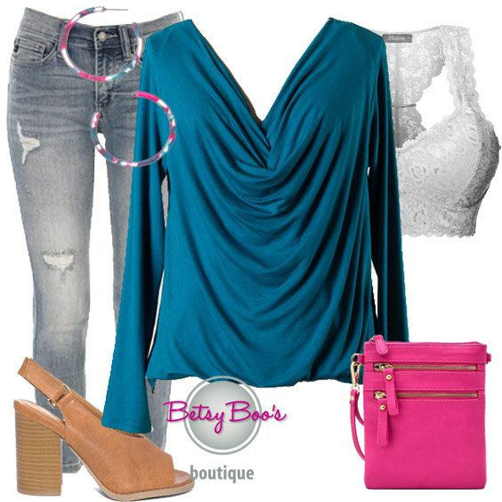 3dd2722bf7 Set includes 3 items  Teal Cowl Neck Top