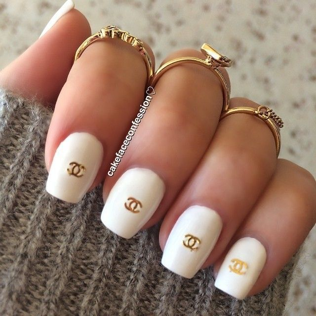 Cool Chanel Nail Design Designer Inspired Pinterest Chanel