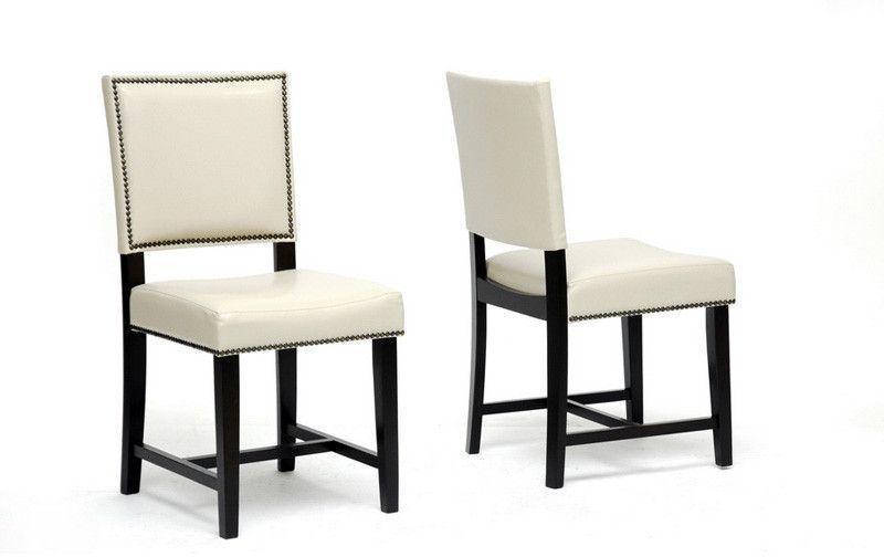 Wholesale Interiors CH6-Cream-DC Nottingham Cream Modern Dining Chair - Set of 2