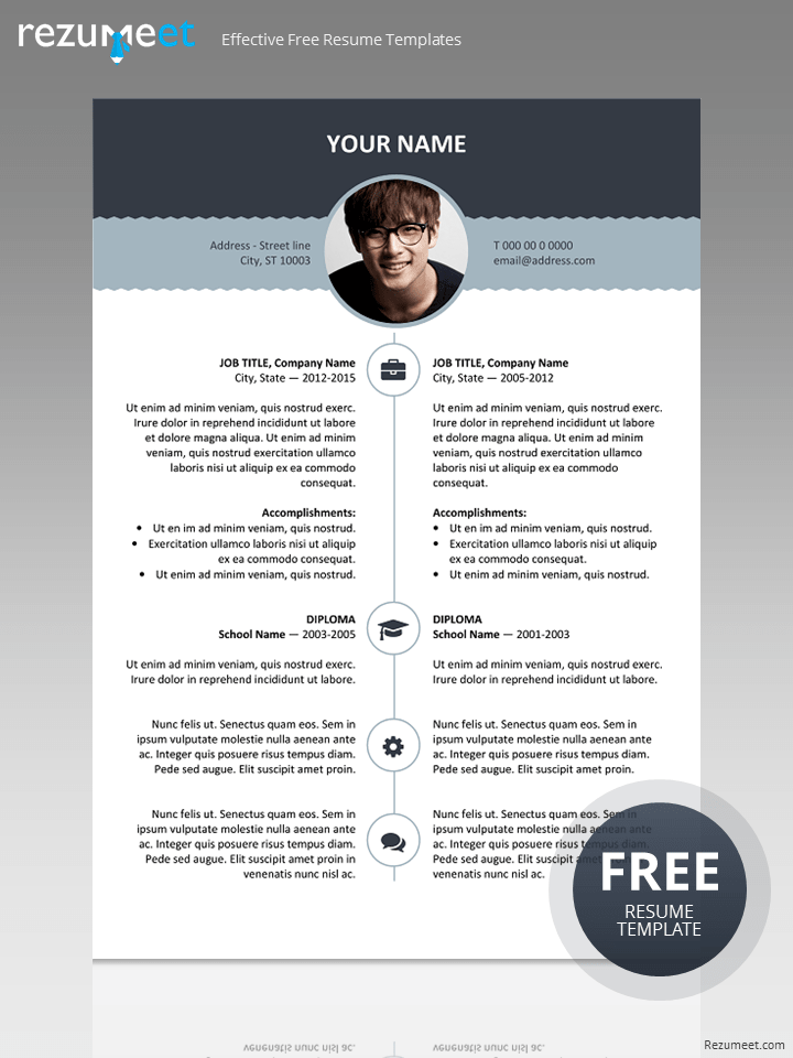 Free Resume Template With Top Banner Resume Templates Resume Template Free Resume Design Template