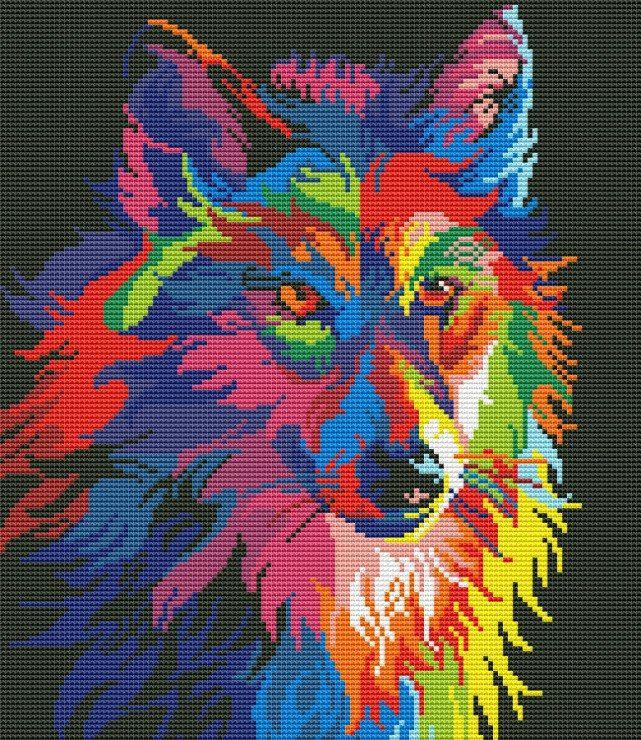 Радужные животные СХЕМЫ 20 фотографий схема вышивки