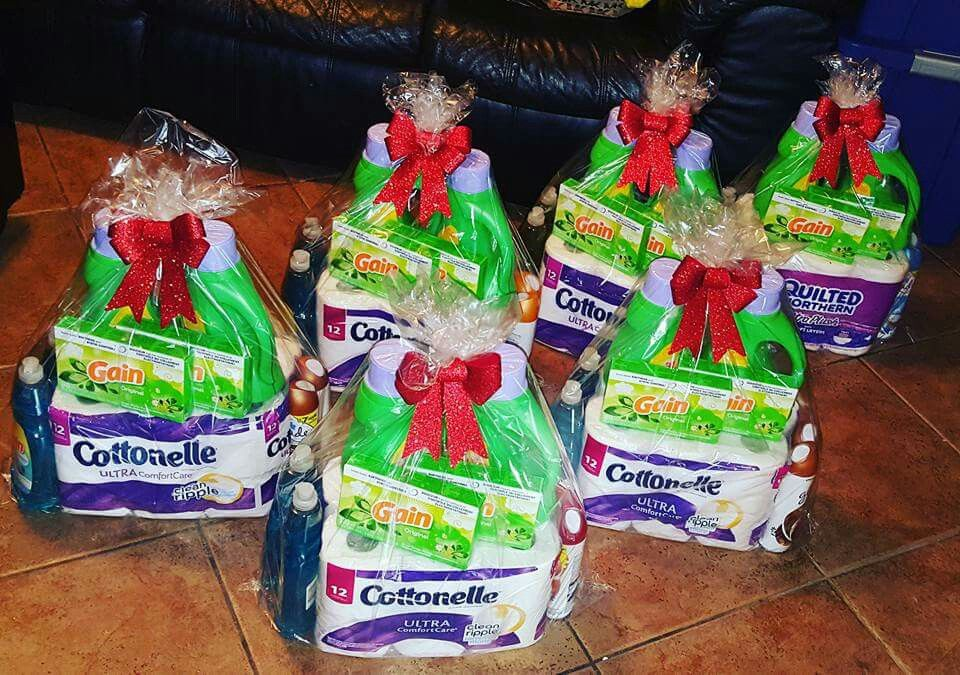 Toilet Paper Gain Laundry Soap Dryer Sheets Gift Basket Christmas Gift Baskets Diy Laundry Gifts Easy Christmas Gifts