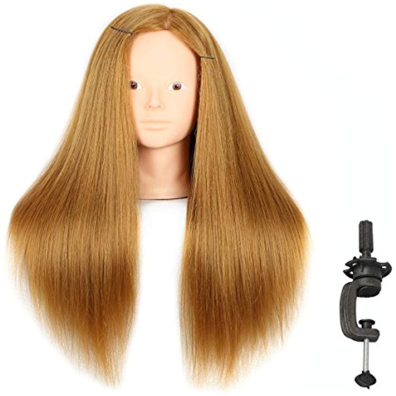20 Inch Mannequin Head Human Hair Styling Training Head Manikin Cosmetology Head Hair Hairdressing Trainin Makeup Practice Head Hairdressing Training Head Hair