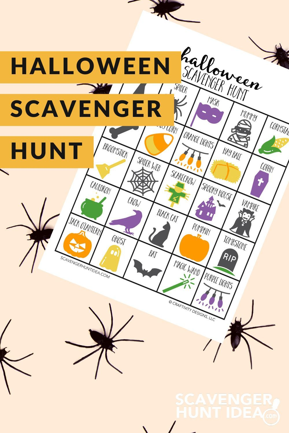 Halloween Scavenger Hunt for All Ages ScavengerHuntIdea