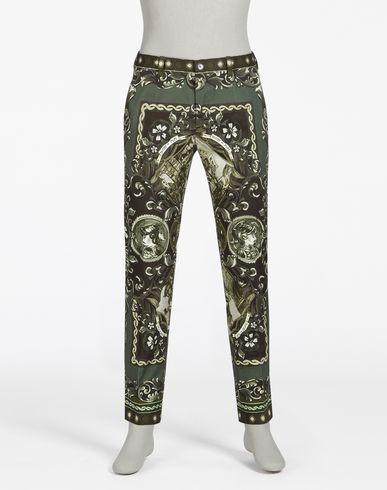 fa9ea7a594c DOLCE & GABBANA Printed Cotton Drill Trousers. #dolcegabbana #cloth ...