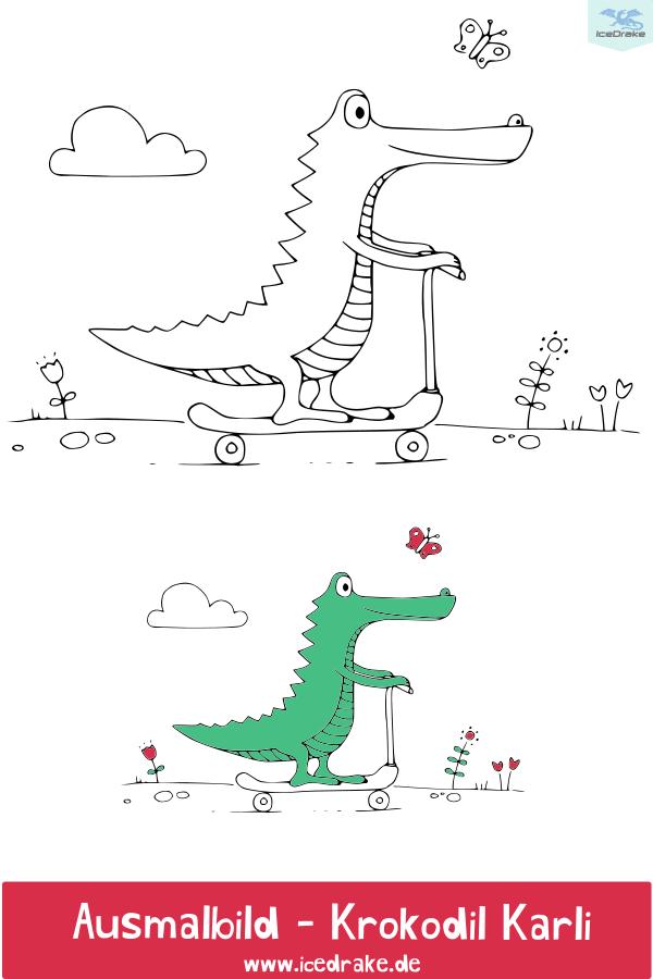 Ausmalbilder Tiere Mit Krokodil Karli Print Me Please