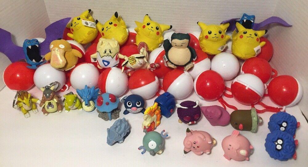 Vintage 1999 Pokémon Burger King Ball Lot Toys Pikachu Togepi ...