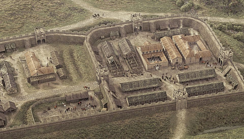 Rough Castle Roman Fort And Antonine Wall Illustrated