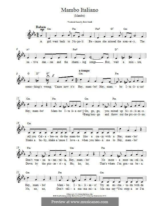El mambo italiano song