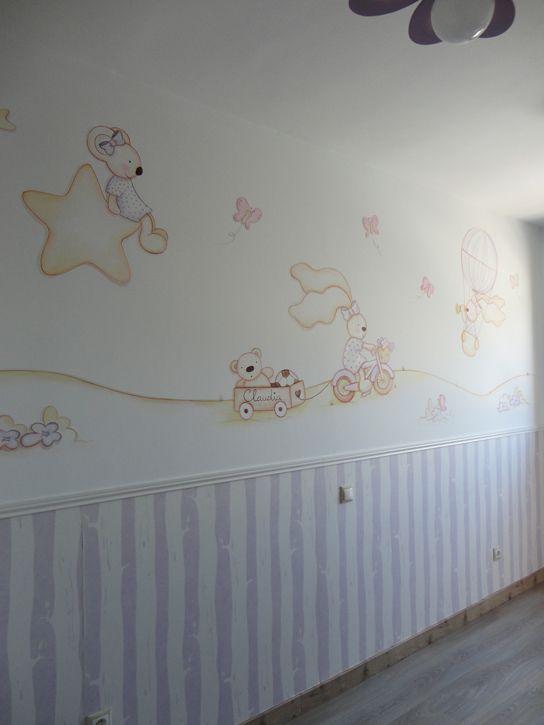 Habitacion en alcala de henares para bebe ni a murales for Decoracion pared bebe nino