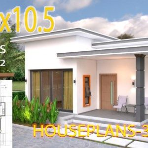 Simple Home Design Plan 6x9m With 3 Bedrooms In 2020 Modern House Plans Small House Design Home Design Plans