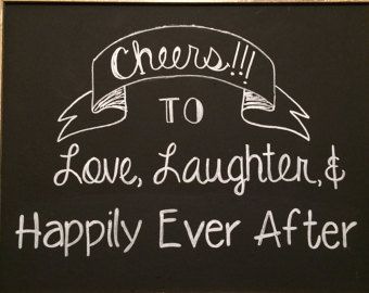 Download Items similar to Cheers to Love, Laughter & Happily Ever ...