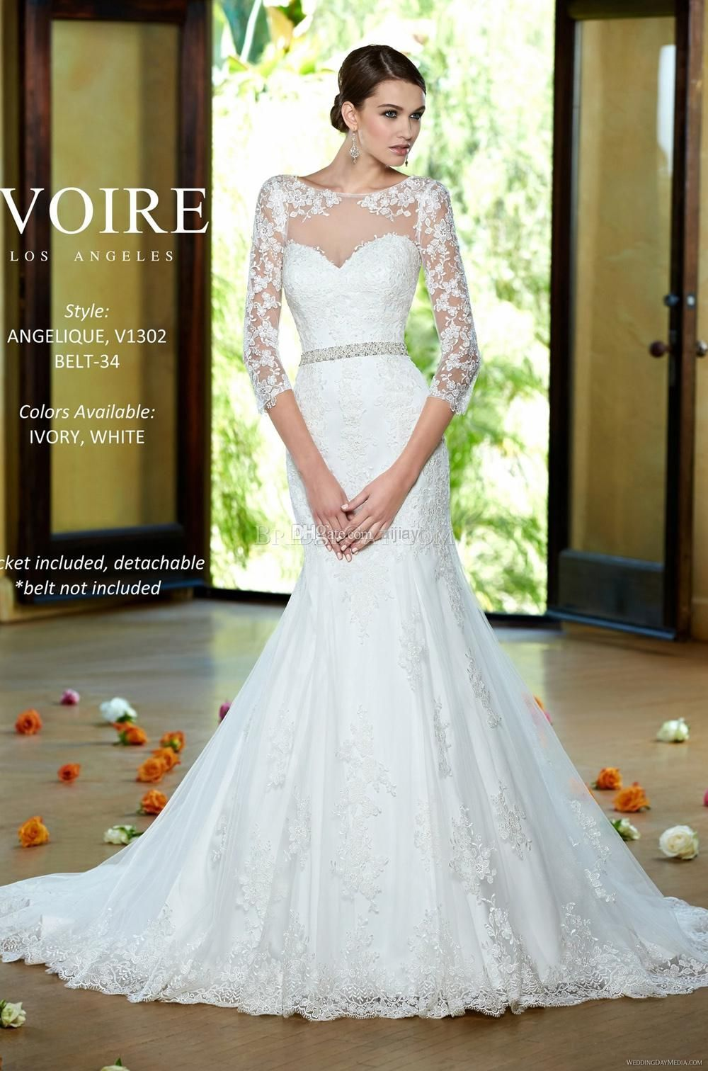 Custom made free vestido de noiva princess wedding gown with sash
