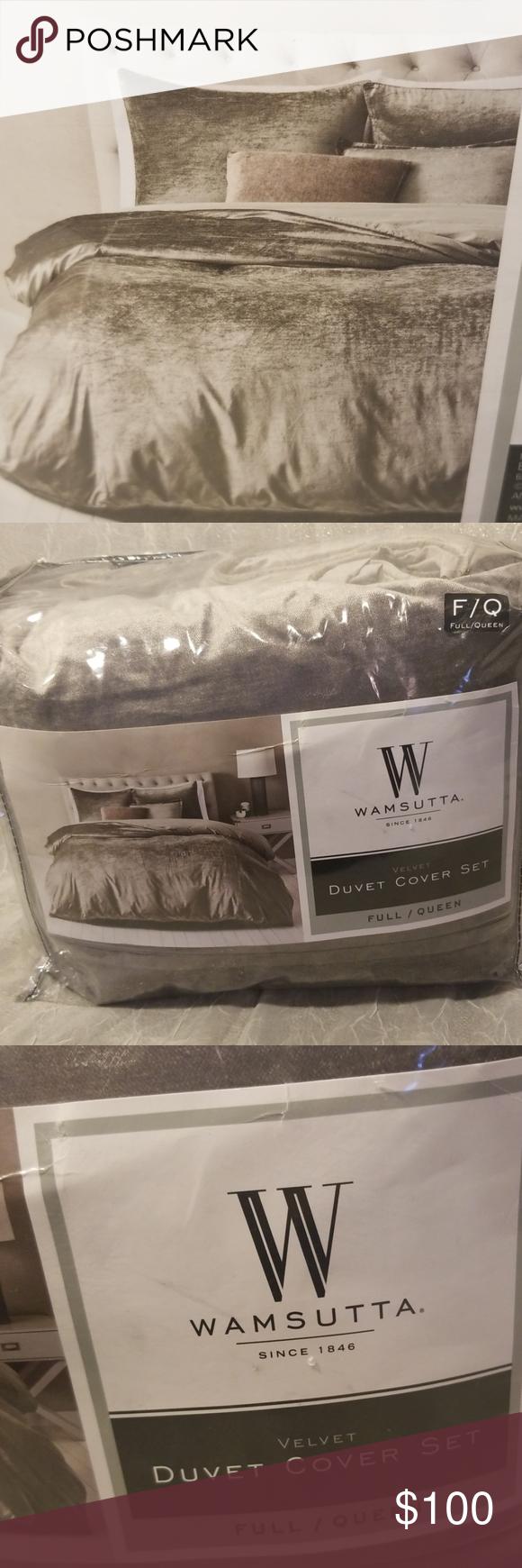 Wamsutta Velvet Queen//Full Duvet Cover Set in Mushroom