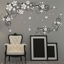 Butterfly Vine Flower Vinyl Wall Art Stickers httpwwwebayco