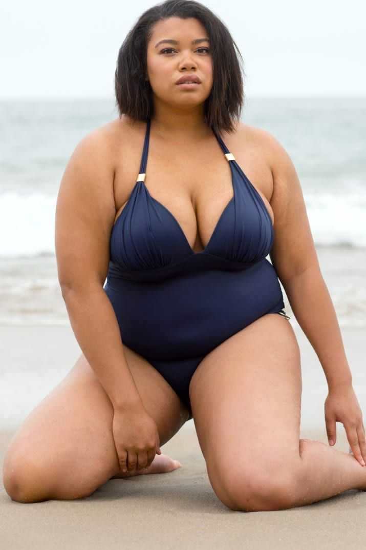 """664cb5920769d We Tried On Victoria& Secret Bathing Suits And This Is What Happened.  Sheridan Watson is 5'11"""". TCW. Tall Curvy Women. BuzzFeed."""