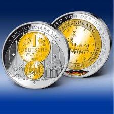 Gigantenpragung Goldmark 2001 1 Deutsche Mark D Mark Munzen
