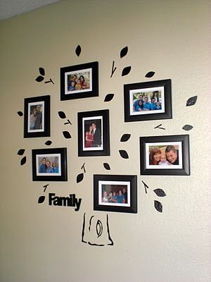 Wall decals without the equipment - although you are limited by the width of tape you can find