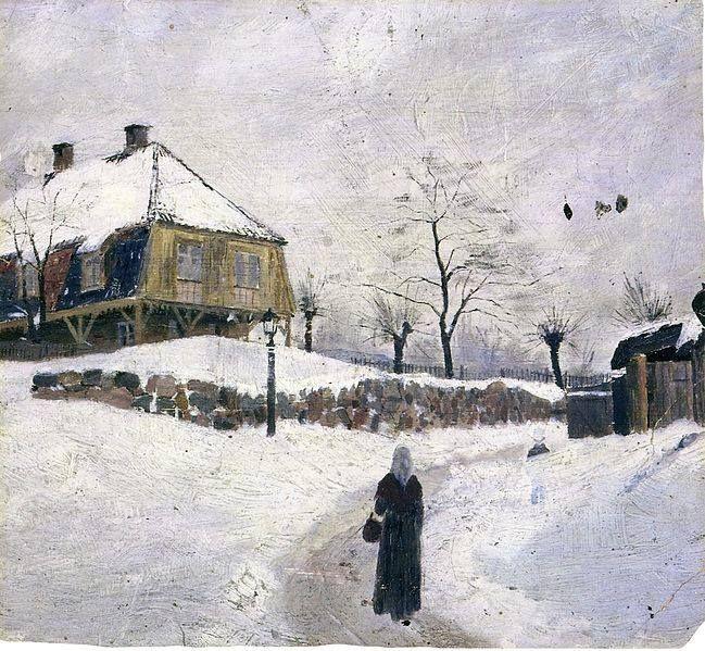 Edvard Munch Ovre Foss In Winter 1881 82 Edvard Munch List Of Paintings Painting