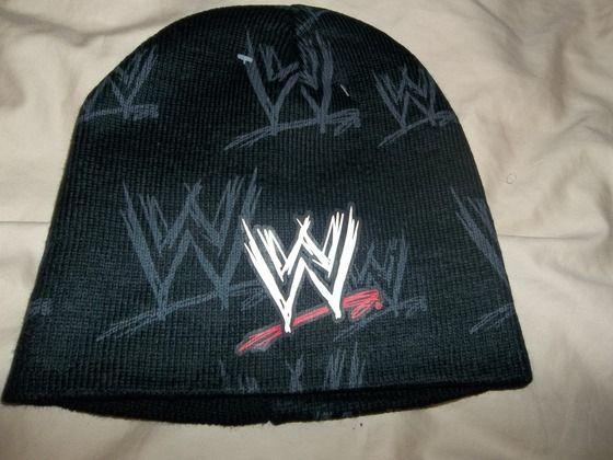 WWE Logo Knit Beanie Hat Free ship $6.50