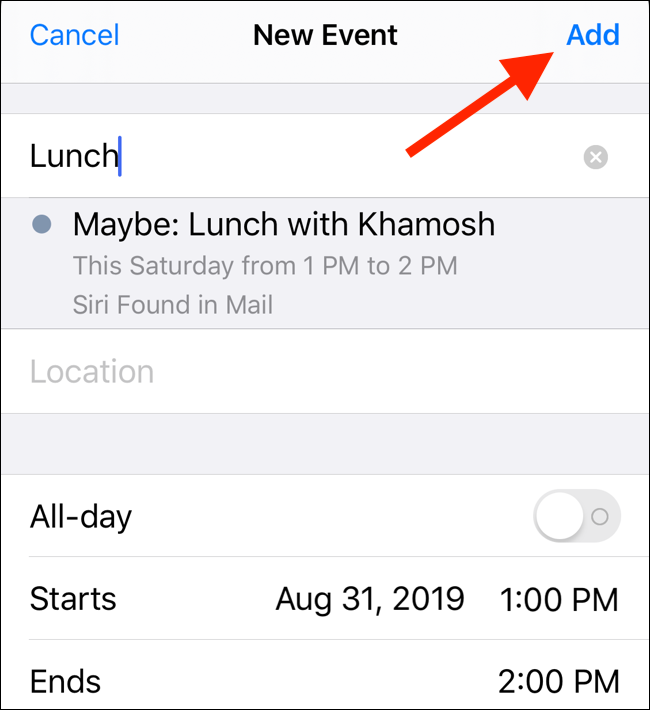 How To Create Calendar Events From Mail On Iphone And Ipad Event Calendar Calendar App Calendar