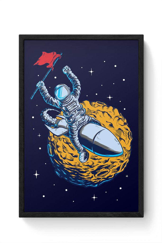 Race To The Moon Laminated Framed Poster