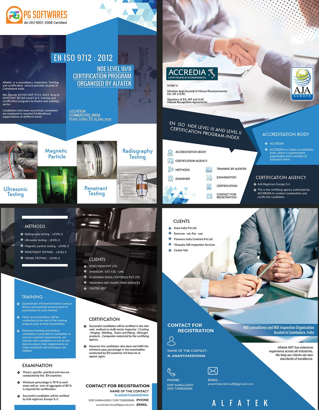 Consultancy, Training Company Brochure Design brochure