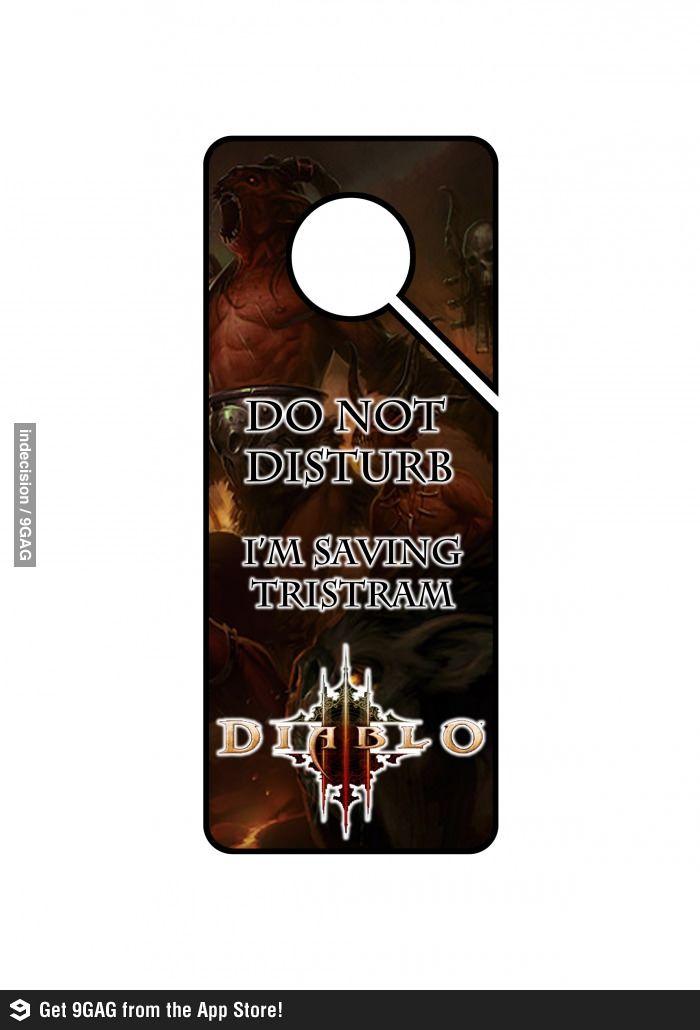 Diablo Door Hanger... perfect for gamer boyfriend