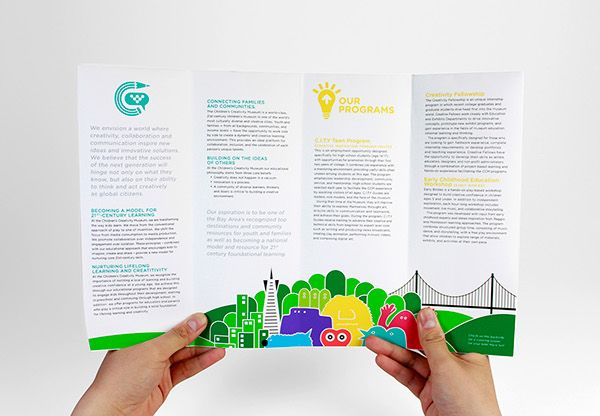 promotional brochure for the children s creativity museum in sf