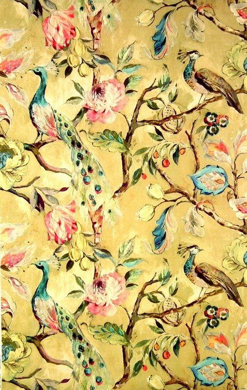 Hampton Court Ochre 19911 106 James Dunlop Textiles