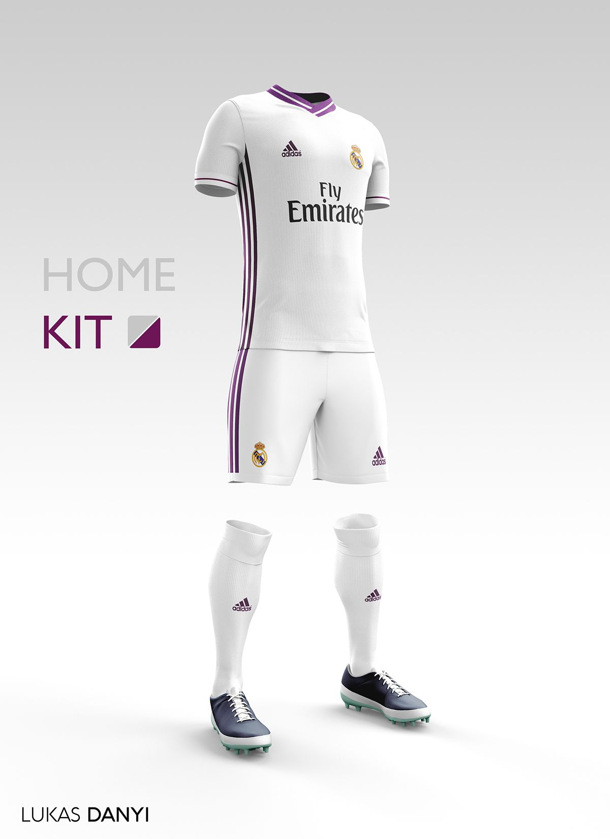 newest 1e0a8 27509 I designed football kits for Real Madrid CF for the upcoming ...