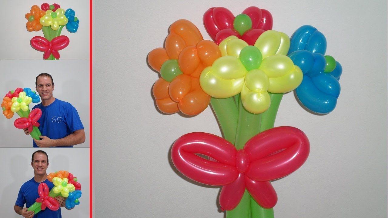 Como hacer una flor con globos paso a paso globoflexia - Como hacer figuras con globos ...