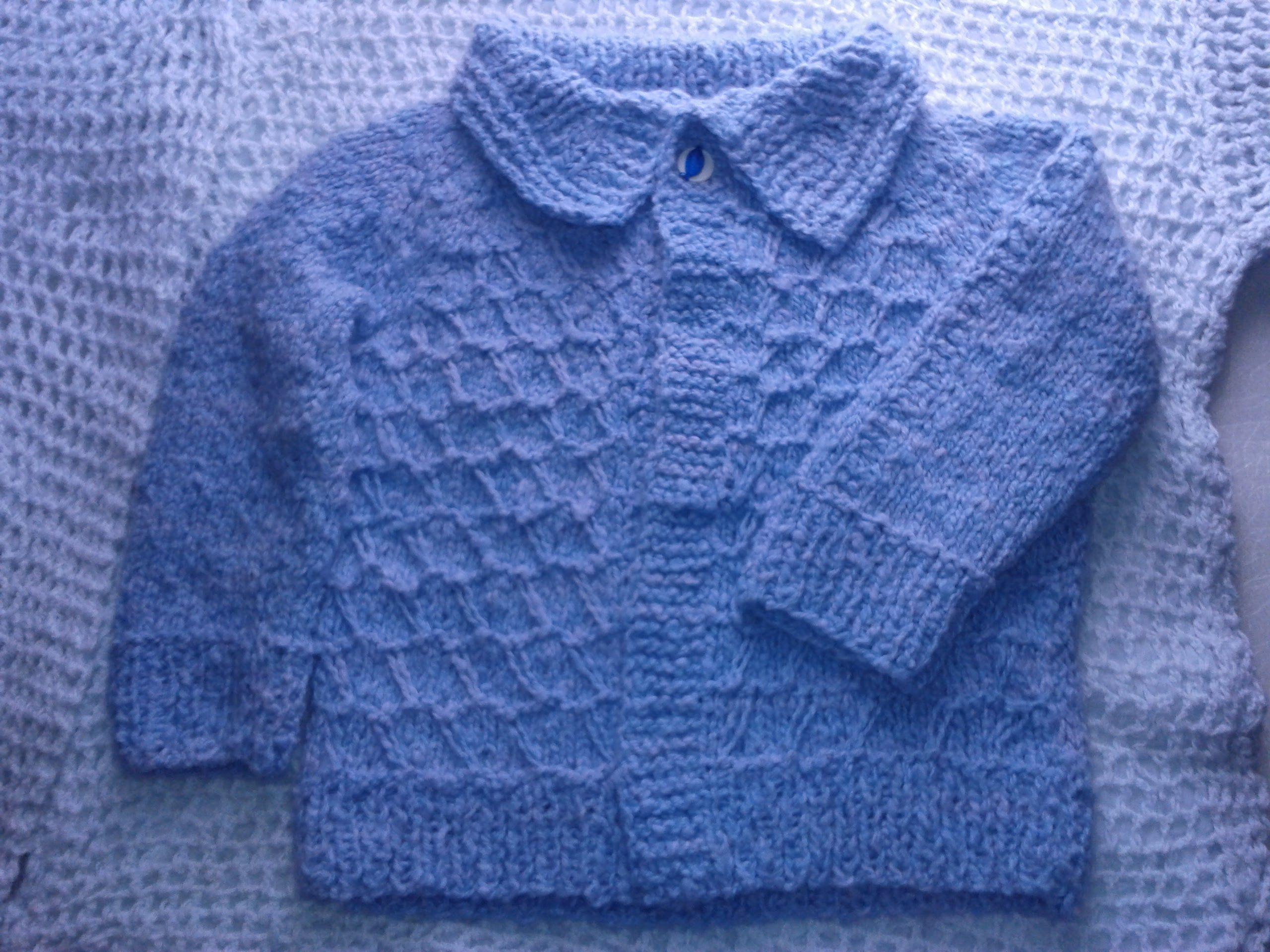Como tejer sueter para ni a o ni o a dos agujas en puntada de grecas o bebes pinterest - Tejer chaqueta bebe 6 meses ...