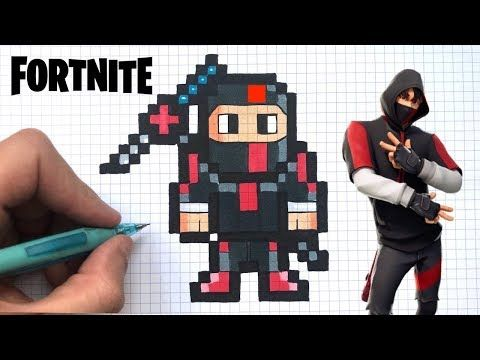 Chadessin Pixel Art Fortnite Youtube Personajes