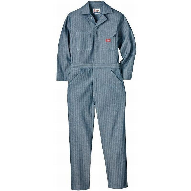 dickies men s fisher stripe cotton coveralls 48977 on cheap insulated coveralls for men id=52763