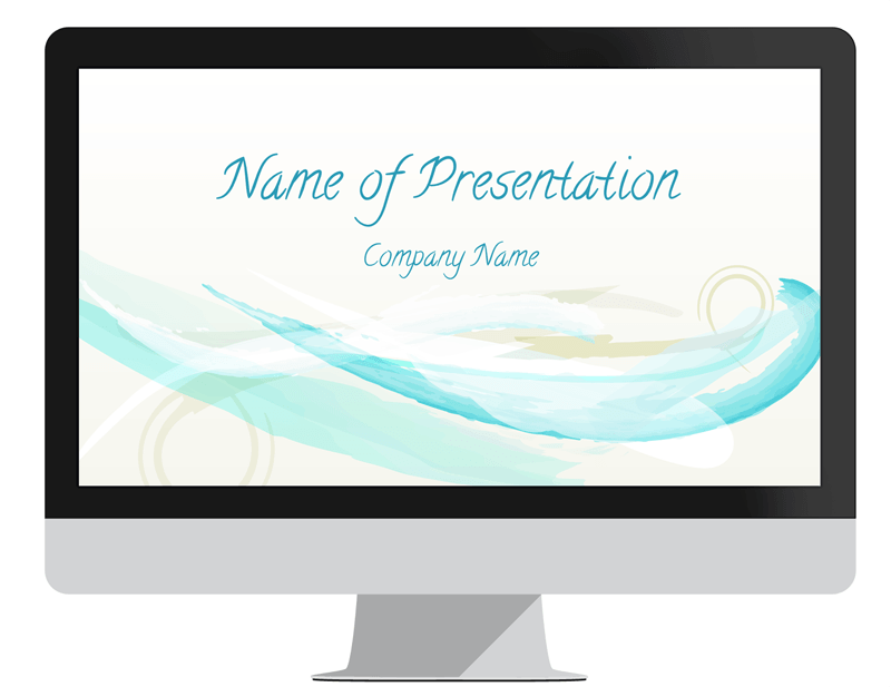 abstract watercolor powerpoint template pinterest abstract
