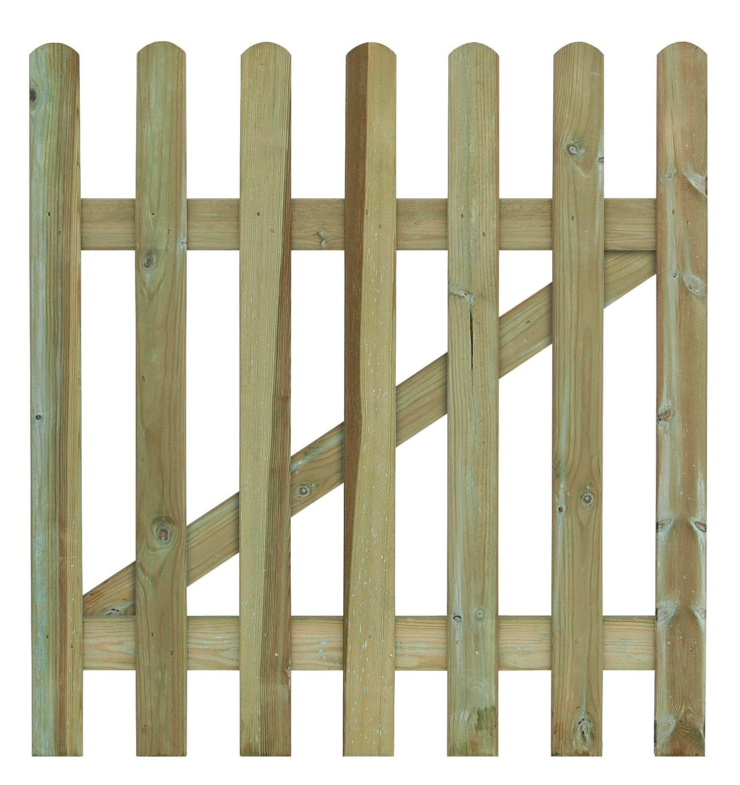 Grange Wood Palisade Round Top Gate H 900mm W 900mm