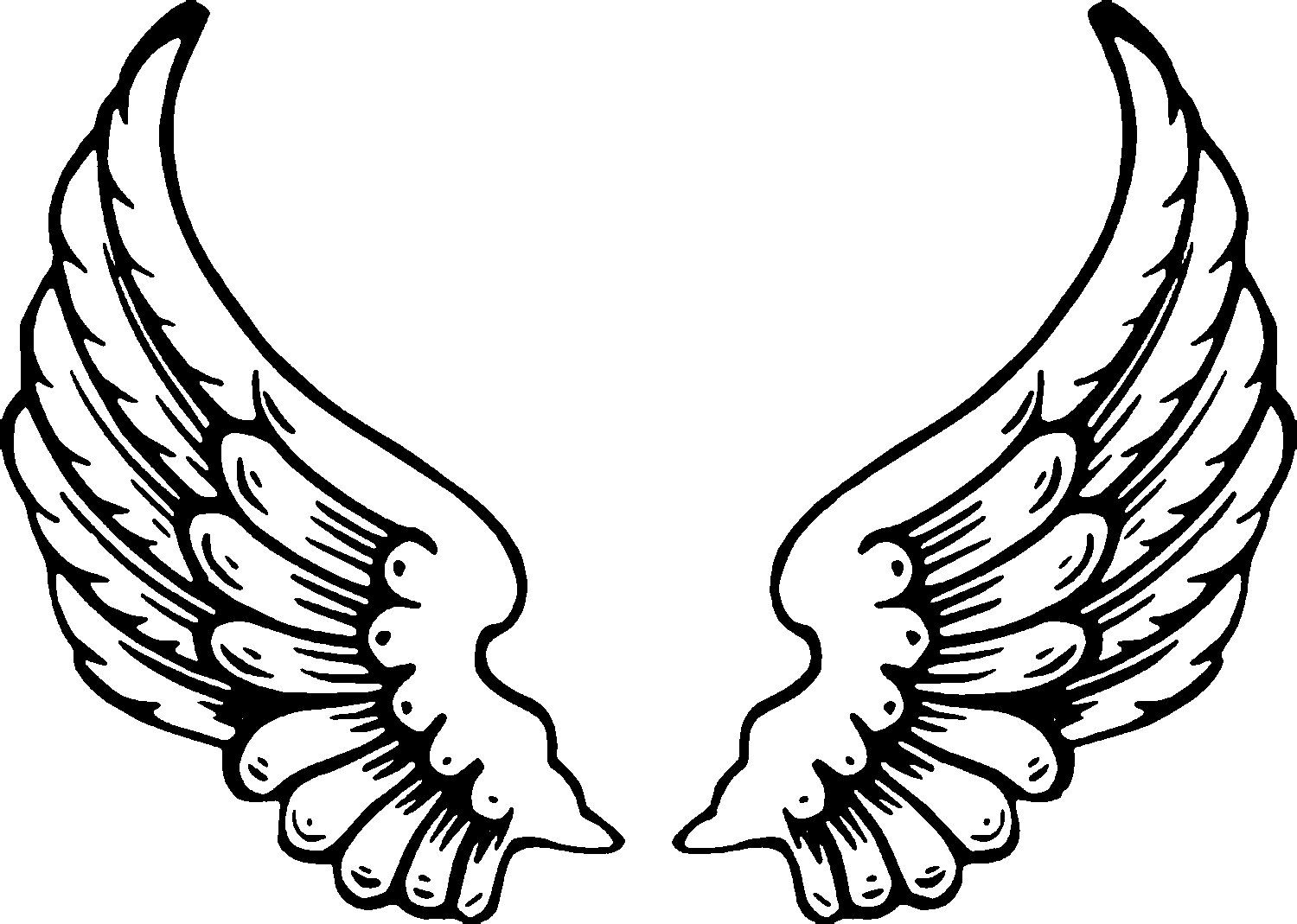 Free Printable Angel Coloring Pages For Kids Angel Wings Clip Art Angel Wings Tattoo Angel Coloring Pages