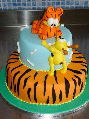 Garfield Birthday Cake Birthday Cakes Pinterest Birthday