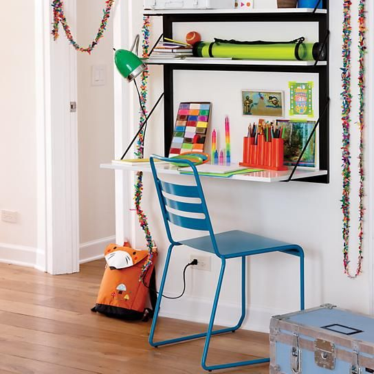From Land of Nod Inspire to make a wall desk?