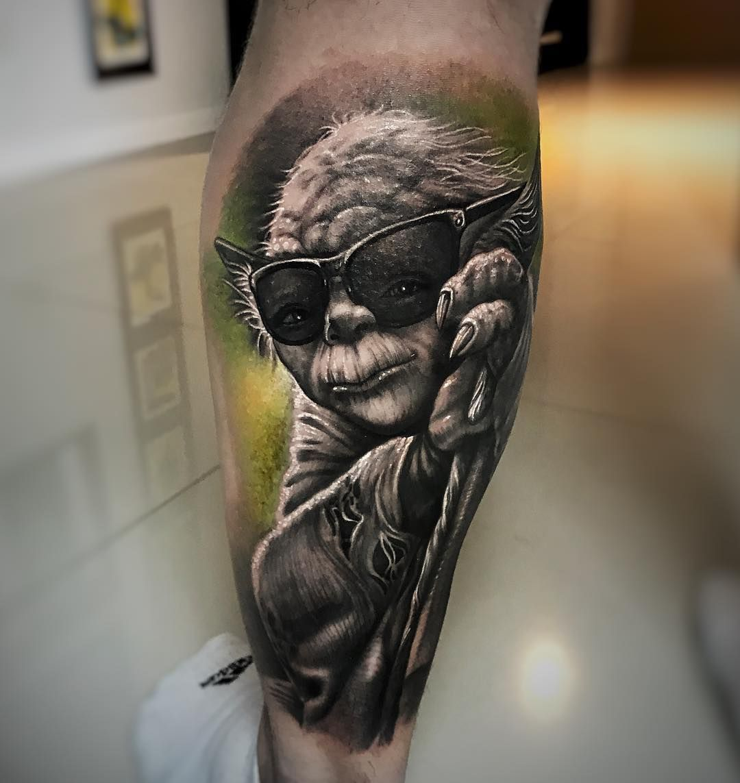 Yoda Tattoo Made By Ezequiel Viapiano In Argentina You Can Find