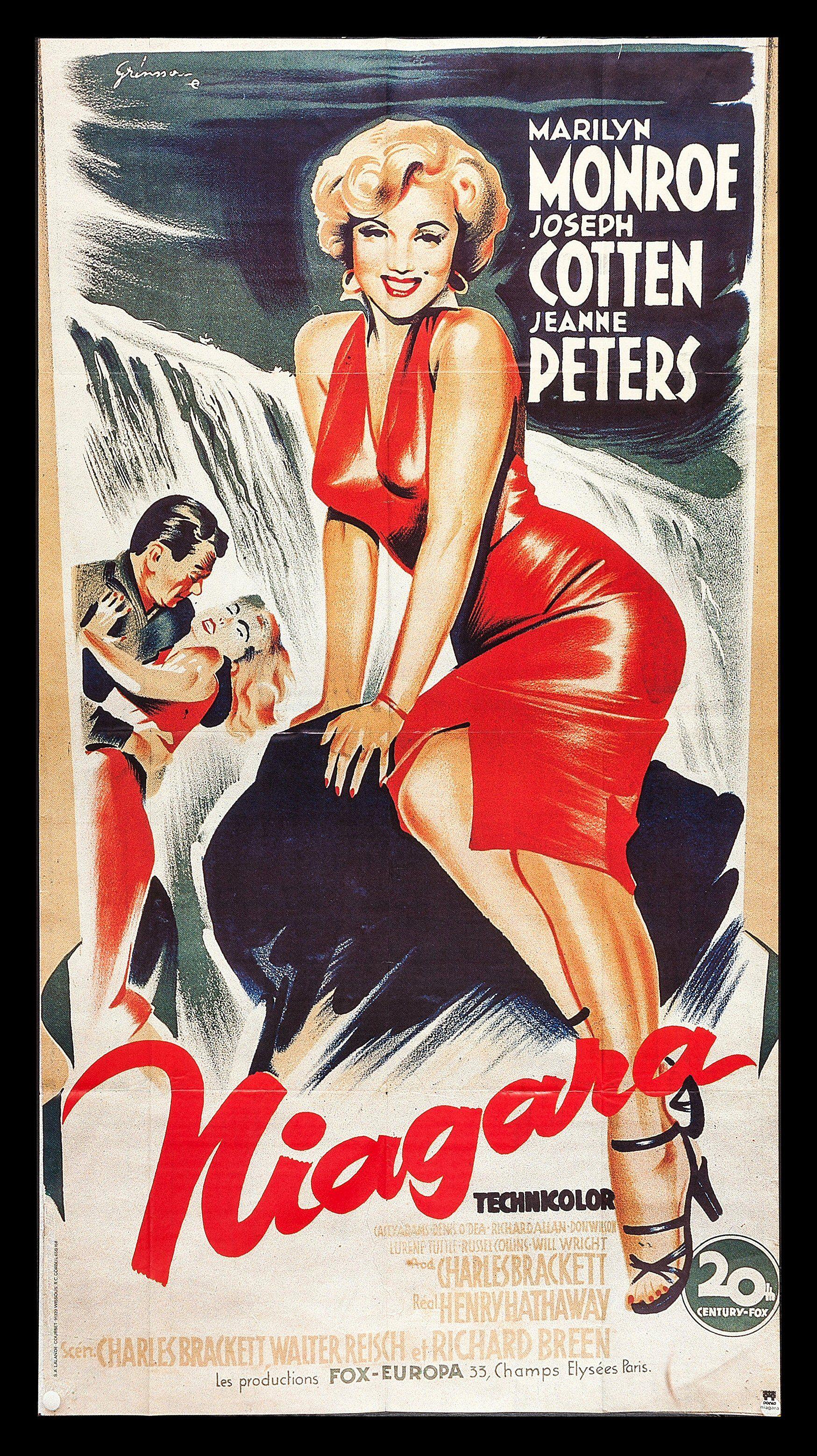 French Poster For The Marilyn Monroe Movie Niagara 1953 Carteles De Peliculas Famosas Carteles De Peliculas Carteleras De Cine