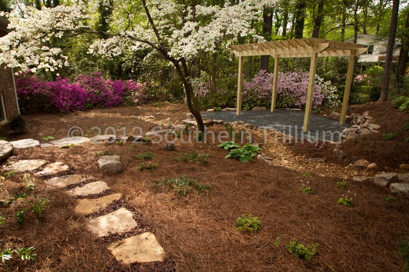 Here is what you can do with a mostly shady backyard. Get ... on Shady Yard Ideas id=76150