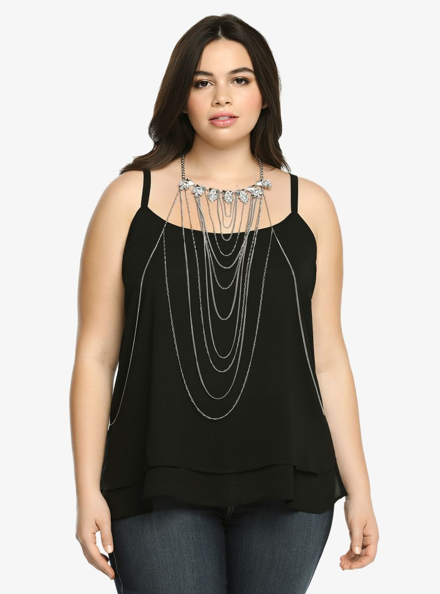 a733182ea8 Flower Statement Body Chain From the Plus Size Fashion Community at  www.VintageandCurvy.com