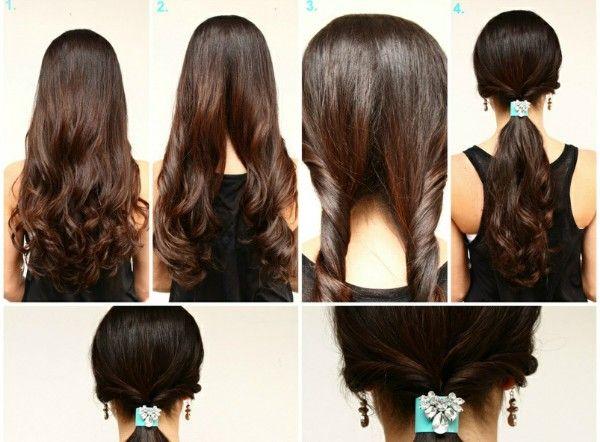 peinados rapidos y faciles de hacer paso a paso peinados Pinterest