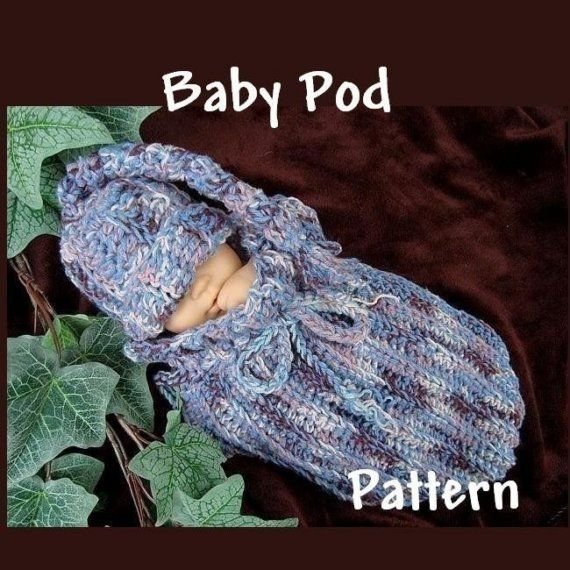 Crochet Baby Bunting Bag Pattern | Crochet Pattern Unisex Pod Cocoon ...