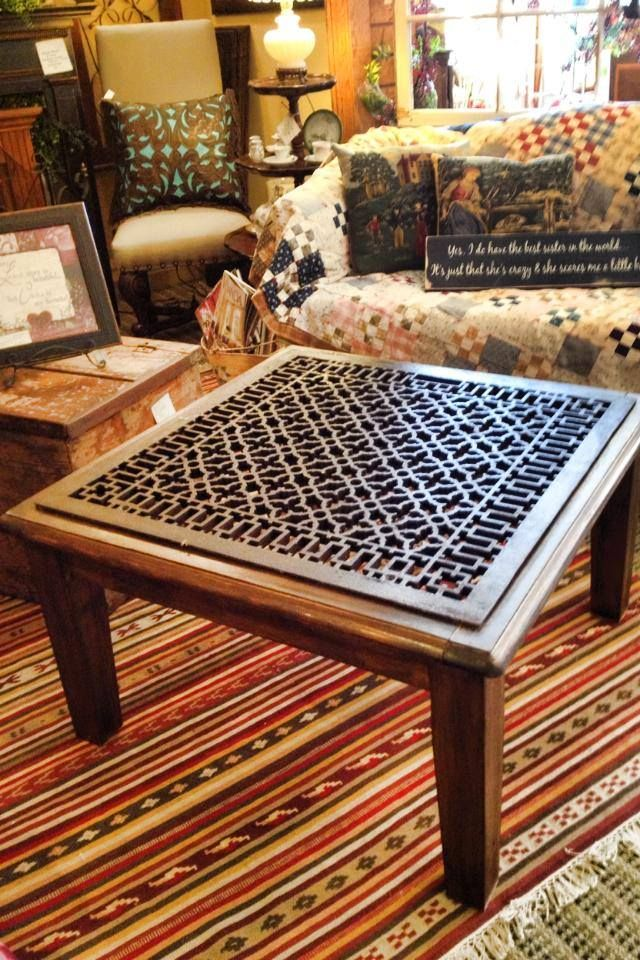 An Old Iron Floor Grate Becomes A Fabulous Coffee Table $245.! @ The Iron  Star. Follow Us On Facebook