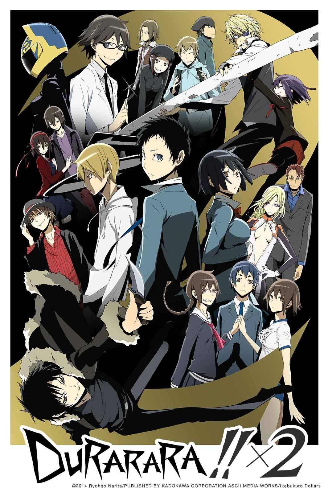 Durarararar Anime namen, Anime serien, Anime