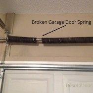Broken Garage Door Spring Repair Broken Garage Door Spring Garage Door Springs Broken Garage Door
