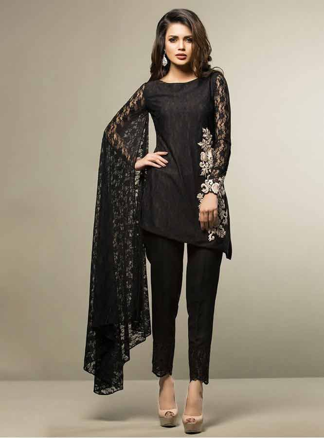 501709ecf9 best black net lace party dresses with matching pajama girls net dresses  2017 pakistani party dresses with price